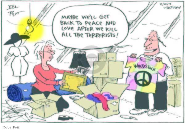 Cartoonist Joel Pett  Joel Pett's Editorial Cartoons 2009-08-11 boomer