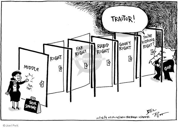 Cartoonist Joel Pett  Joel Pett's Editorial Cartoons 2009-10-16 Republican opposition