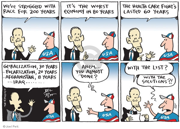 Cartoonist Joel Pett  Joel Pett's Editorial Cartoons 2009-11-05 globalization