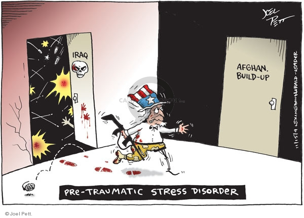 Cartoonist Joel Pett  Joel Pett's Editorial Cartoons 2009-11-15 military mental health