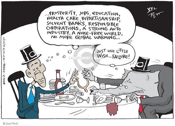 Cartoonist Joel Pett  Joel Pett's Editorial Cartoons 2009-11-24 Republican opposition