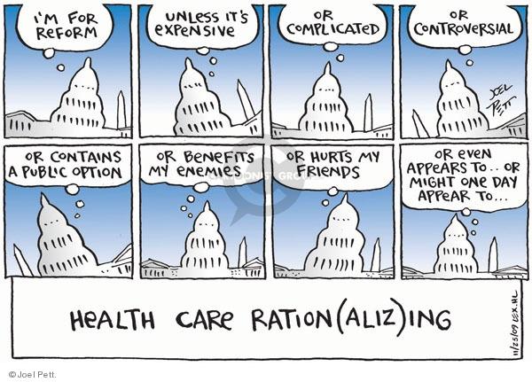 Joel Pett  Joel Pett's Editorial Cartoons 2009-11-25 health care reform opposition