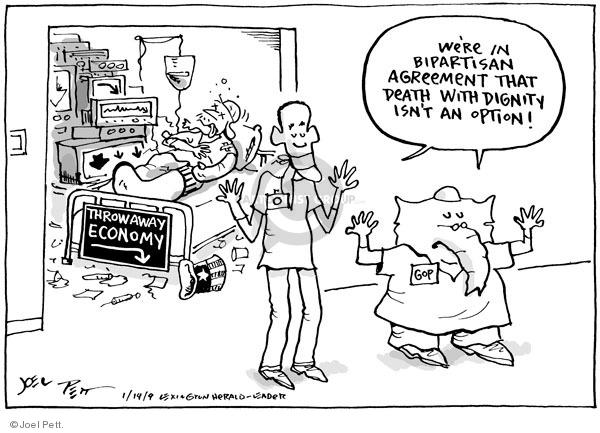 Joel Pett  Joel Pett's Editorial Cartoons 2009-01-14 republican president