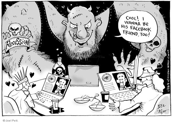 Cartoonist Joel Pett  Joel Pett's Editorial Cartoons 2009-01-28 recession