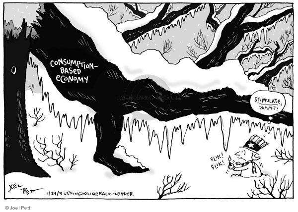 Joel Pett  Joel Pett's Editorial Cartoons 2009-01-29 economy