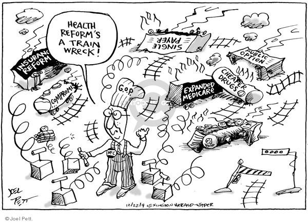 Cartoonist Joel Pett  Joel Pett's Editorial Cartoons 2009-12-21 leader