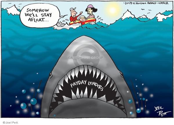 Joel Pett  Joel Pett's Editorial Cartoons 2010-01-20 debt