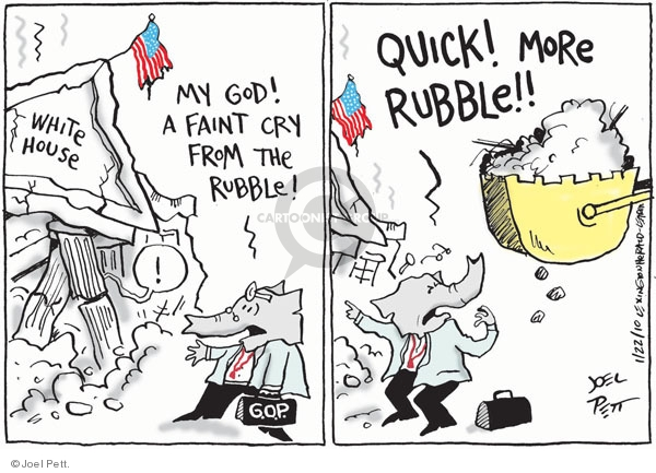 Cartoonist Joel Pett  Joel Pett's Editorial Cartoons 2010-01-21 Republican opposition