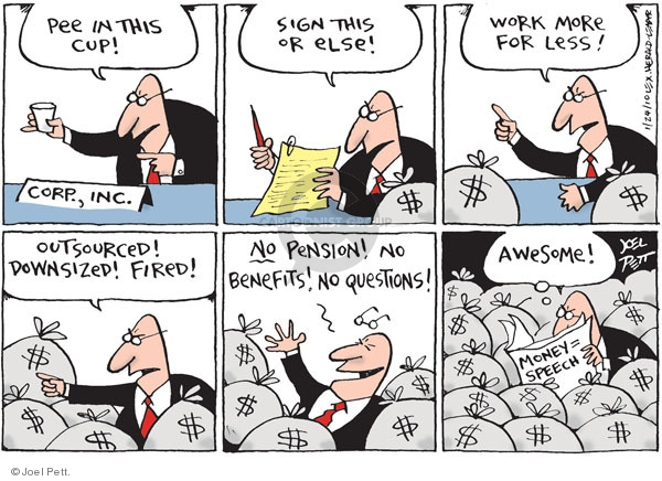 Joel Pett  Joel Pett's Editorial Cartoons 2010-01-24 compensation