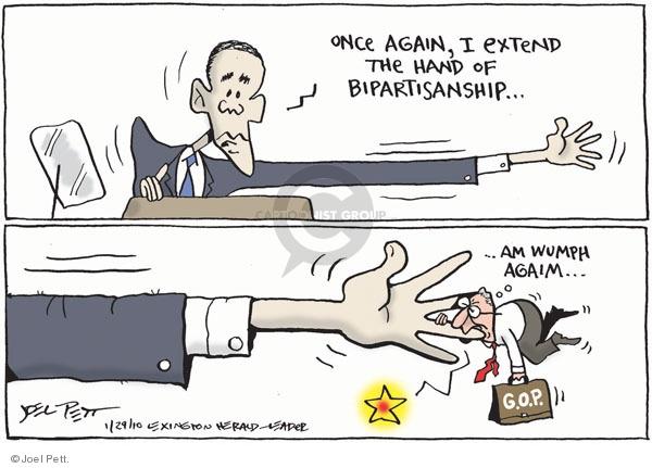 Cartoonist Joel Pett  Joel Pett's Editorial Cartoons 2010-01-29 Republican opposition