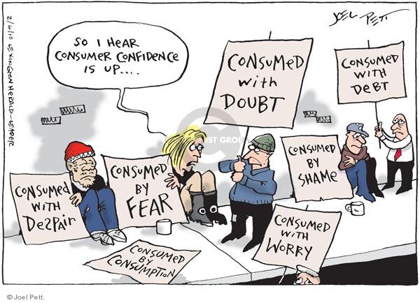 Joel Pett  Joel Pett's Editorial Cartoons 2010-02-04 economy