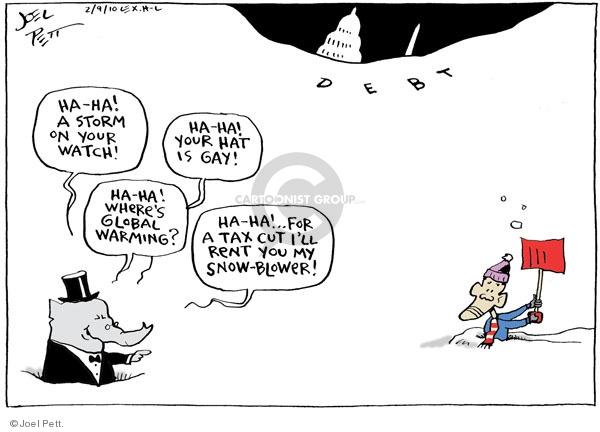Cartoonist Joel Pett  Joel Pett's Editorial Cartoons 2010-02-09 Republican opposition