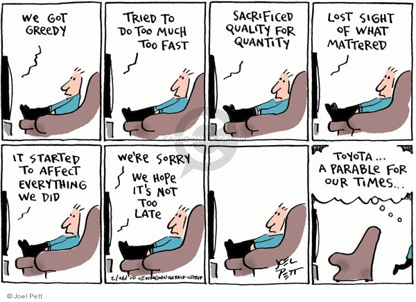 Joel Pett  Joel Pett's Editorial Cartoons 2010-02-26 analogy