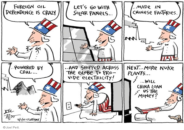 Cartoonist Joel Pett  Joel Pett's Editorial Cartoons 2010-03-01 solar power