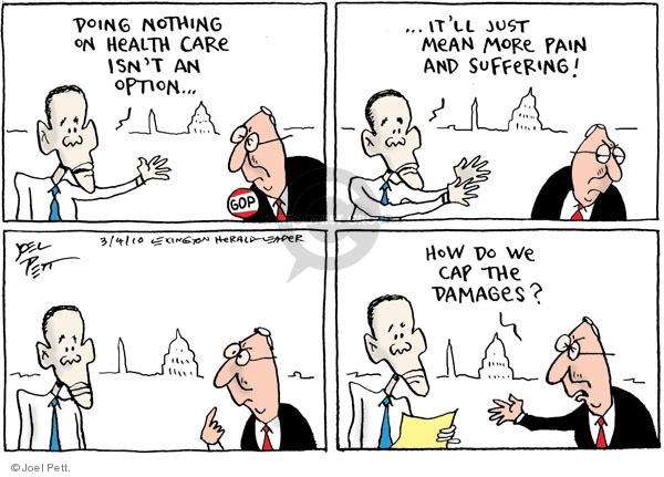 Cartoonist Joel Pett  Joel Pett's Editorial Cartoons 2010-03-04 Republican opposition