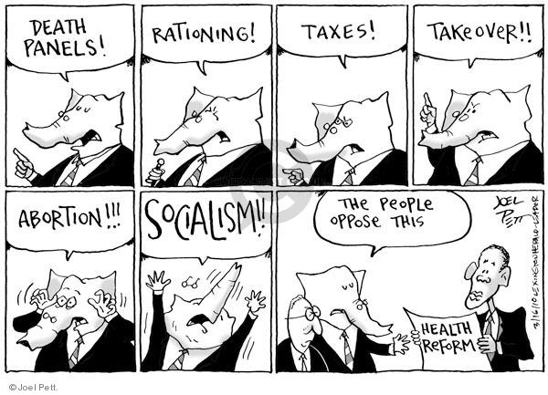 Cartoonist Joel Pett  Joel Pett's Editorial Cartoons 2010-03-16 Republican opposition