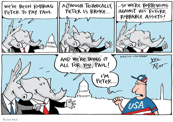 Cartoonist Joel Pett  Joel Pett's Editorial Cartoons 2010-03-22 Government Spending
