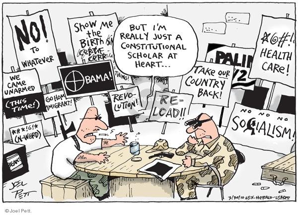 Joel Pett  Joel Pett's Editorial Cartoons 2010-03-30 intimidation