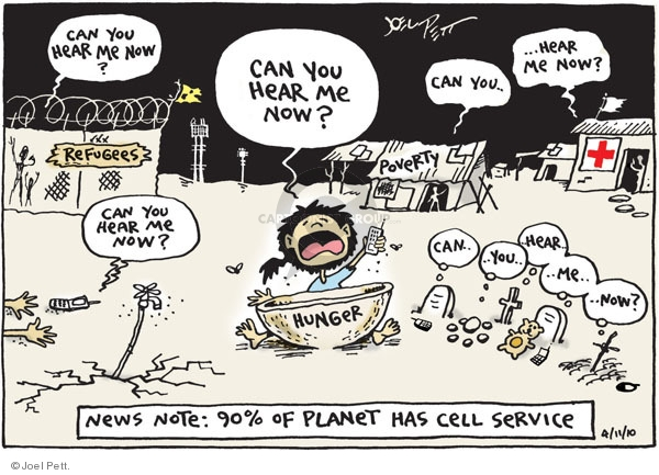 Joel Pett  Joel Pett's Editorial Cartoons 2010-04-11 telephone