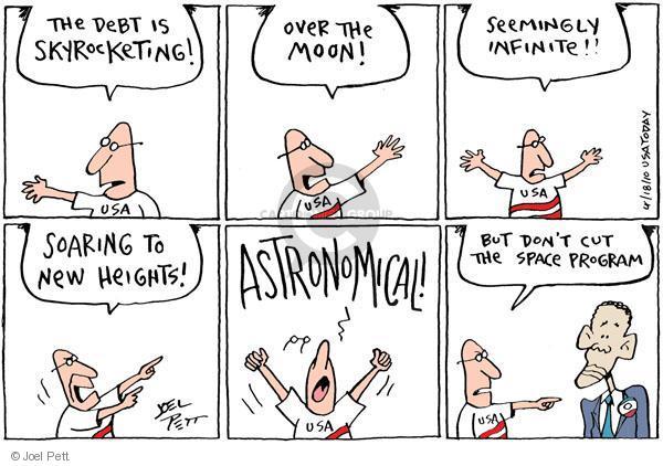 Cartoonist Joel Pett  Joel Pett's Editorial Cartoons 2010-04-19 space exploration