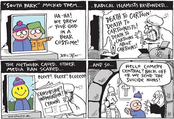 Joel Pett  Joel Pett's Editorial Cartoons 2010-04-27 intimidation