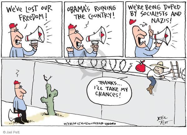 Cartoonist Joel Pett  Joel Pett's Editorial Cartoons 2010-04-28 socialist