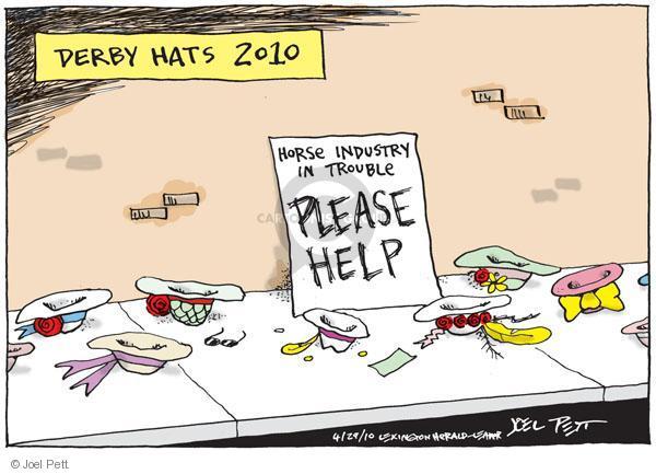 Cartoonist Joel Pett  Joel Pett's Editorial Cartoons 2010-04-29 horse race