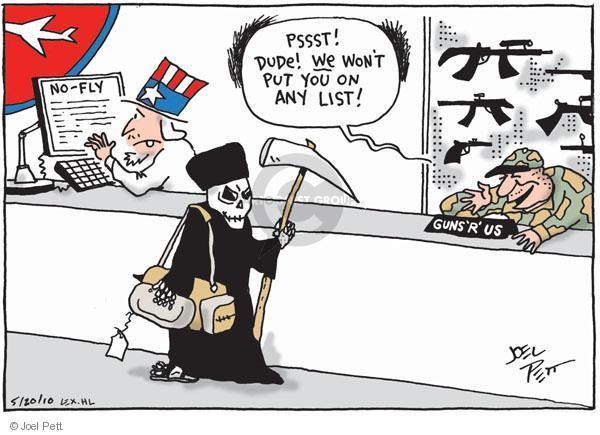 Cartoonist Joel Pett  Joel Pett's Editorial Cartoons 2010-05-20 gun safety