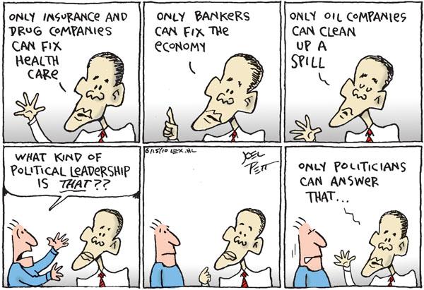 Joel Pett  Joel Pett's Editorial Cartoons 2010-06-15 rhetoric