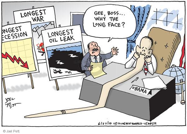 Cartoonist Joel Pett  Joel Pett's Editorial Cartoons 2010-06-27 face