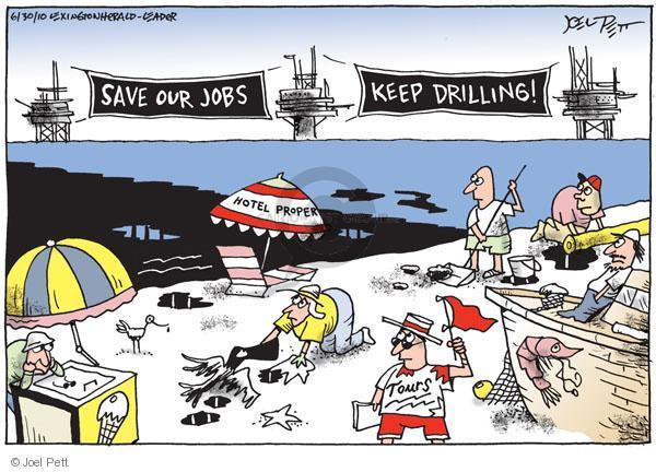 Cartoonist Joel Pett  Joel Pett's Editorial Cartoons 2010-06-30 vacation