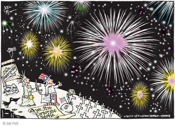 Cartoonist Joel Pett  Joel Pett's Editorial Cartoons 2010-07-04 state