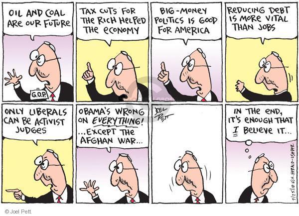 Cartoonist Joel Pett  Joel Pett's Editorial Cartoons 2010-07-25 Republican opposition