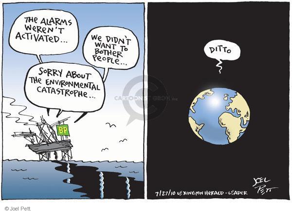 Joel Pett  Joel Pett's Editorial Cartoons 2010-07-27 environment