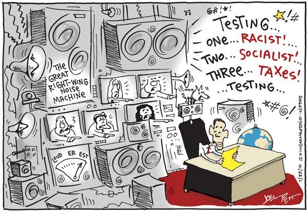 Joel Pett  Joel Pett's Editorial Cartoons 2010-07-28 rhetoric
