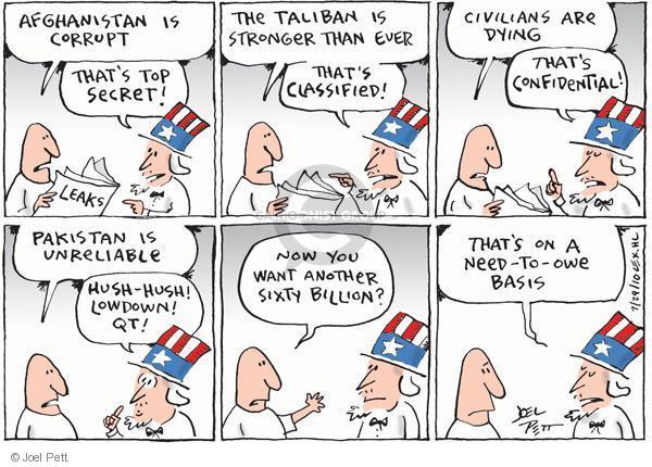 Joel Pett  Joel Pett's Editorial Cartoons 2010-07-29 owe
