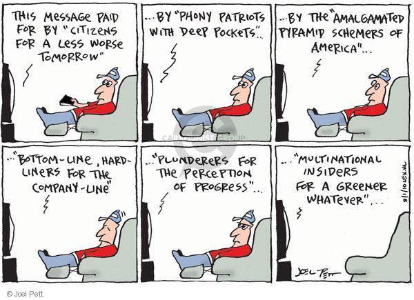 Joel Pett  Joel Pett's Editorial Cartoons 2010-08-01 television cartoon