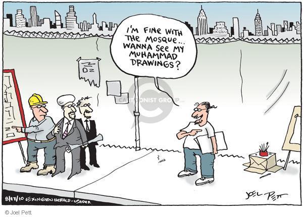 Cartoonist Joel Pett  Joel Pett's Editorial Cartoons 2010-08-17 religious freedom