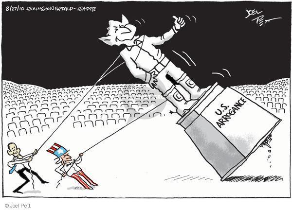 Cartoonist Joel Pett  Joel Pett's Editorial Cartoons 2010-08-27 Barack Hussein Obama