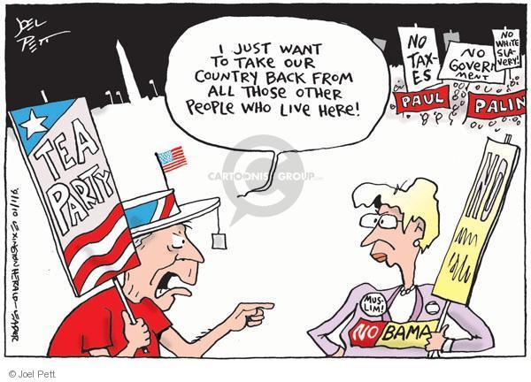 Cartoonist Joel Pett  Joel Pett's Editorial Cartoons 2010-09-01 rhetoric