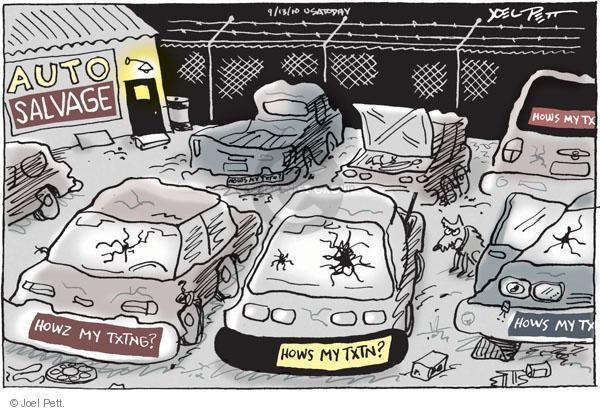 Cartoonist Joel Pett  Joel Pett's Editorial Cartoons 2010-09-13 accident