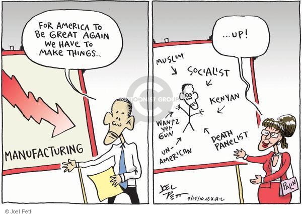 Cartoonist Joel Pett  Joel Pett's Editorial Cartoons 2010-09-15 Kenyan