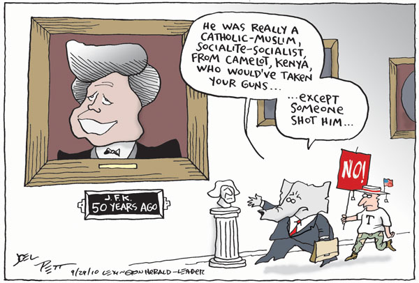 Cartoonist Joel Pett  Joel Pett's Editorial Cartoons 2010-09-30 socialist