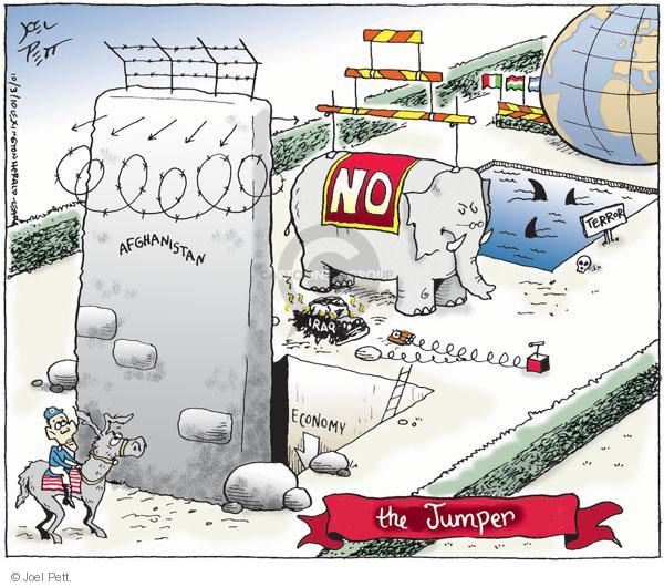 Joel Pett  Joel Pett's Editorial Cartoons 2010-10-03 Obama Afghanistan