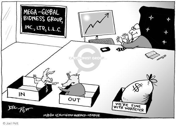 Cartoonist Joel Pett  Joel Pett's Editorial Cartoons 2010-10-08 democratic