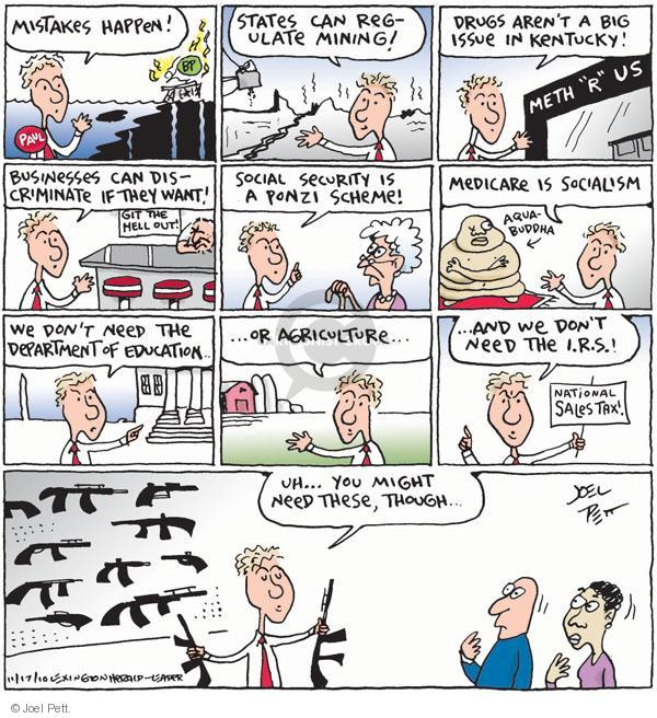 Cartoonist Joel Pett  Joel Pett's Editorial Cartoons 2010-10-17 Government Spending