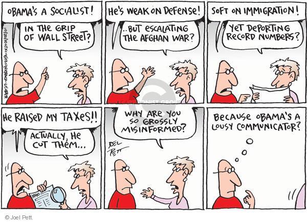 Cartoonist Joel Pett  Joel Pett's Editorial Cartoons 2010-10-20 socialist