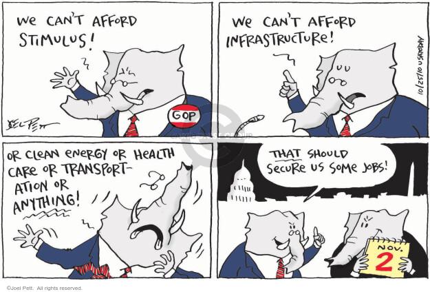 Joel Pett  Joel Pett's Editorial Cartoons 2010-10-25 infrastructure