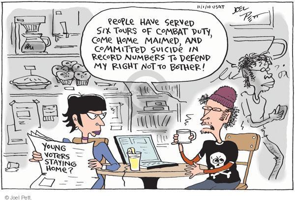 Joel Pett  Joel Pett's Editorial Cartoons 2010-11-01 youth vote