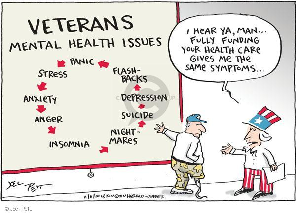 Cartoonist Joel Pett  Joel Pett's Editorial Cartoons 2010-11-11 illness